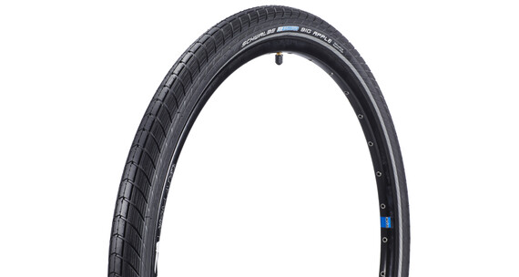 "SCHWALBE Big Apple band Performance 26"" RaceGuard draadband reflex zwart"